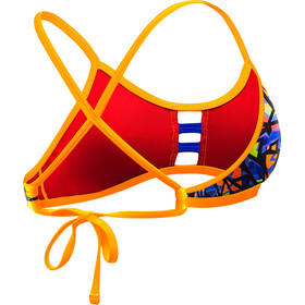 TYR Costa Mesa Pacific Bikini Top Atado Atrás Mujer, orange/purple